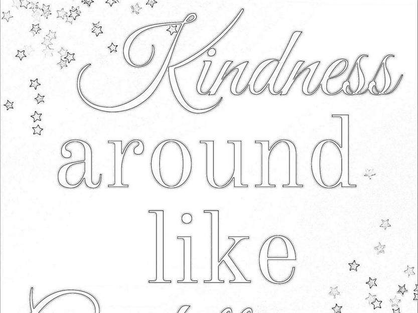 Kindness Coloring Pages Outline