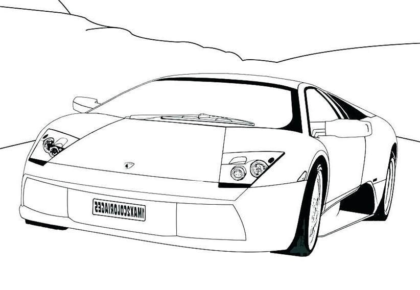 Lamborghini Coloring Pages Easy Line Drawing 247 - Free ...