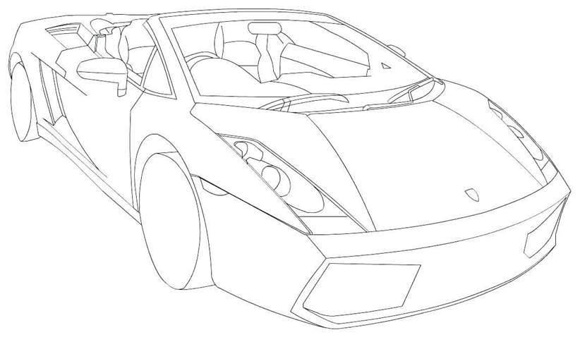 Awesome Easy Lamborghini Coloring Pages Anyoneforanyateam