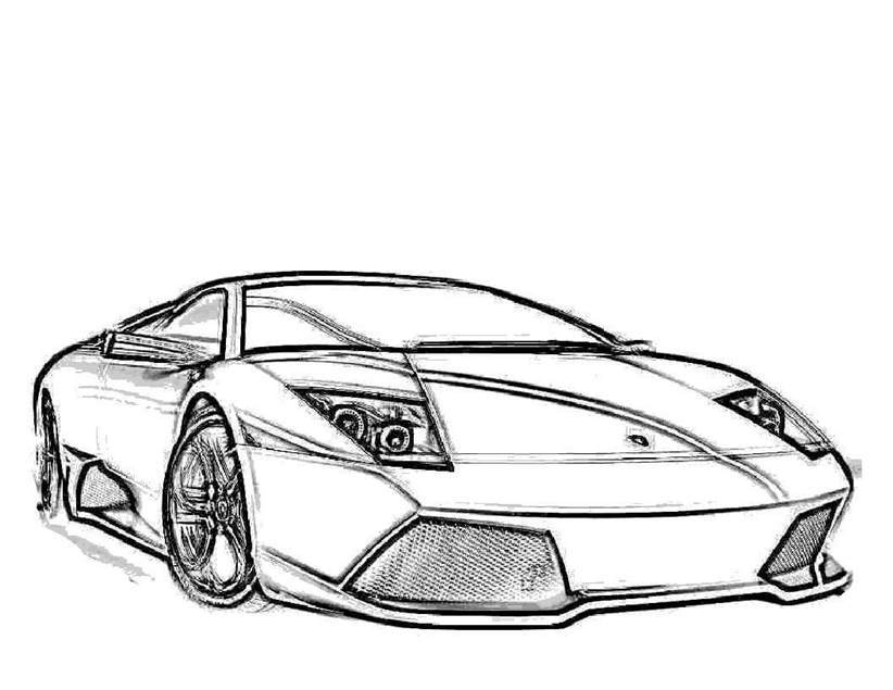 Lamborghini Coloring Pages Printable Line Drawing 322 Free