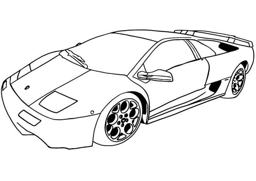 Lamborghini Coloring Pages Simple Worksheet 49 Free Printable