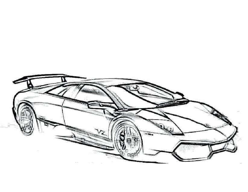 Lamborghini Coloring Pages Simple For Boys Reventon 212 Free