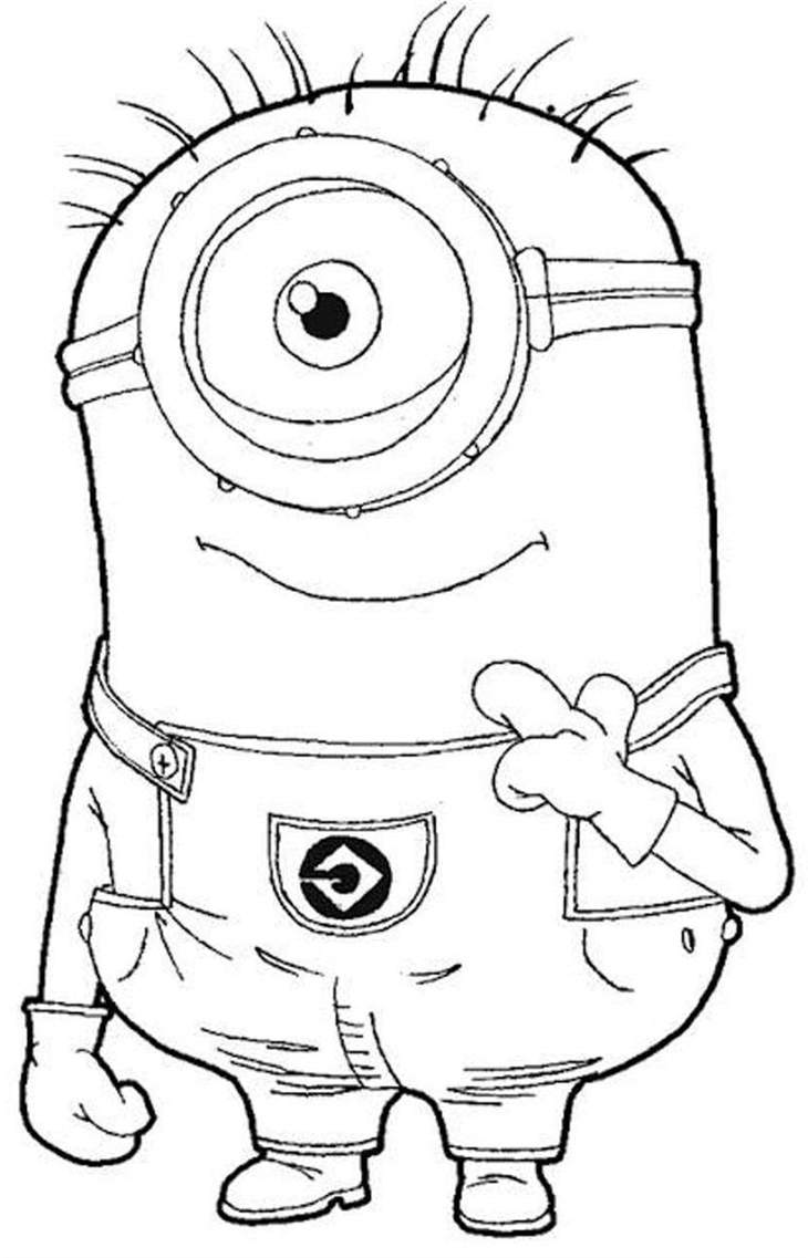 Free Minions Coloring Pages Awesome Printable Despicable Me 3327 printable