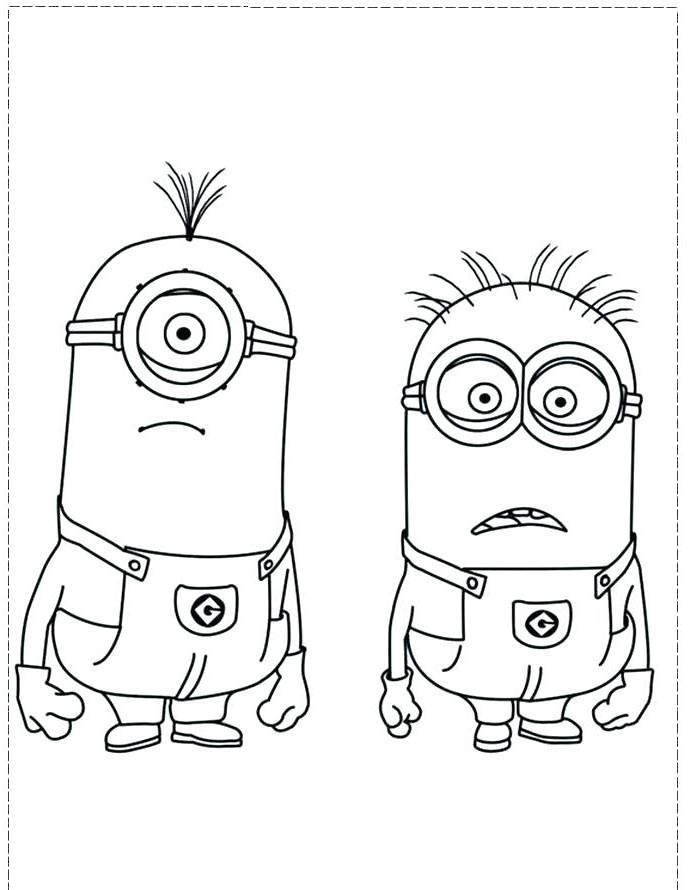 Free Minions Coloring Pages Easy Sketch 511 printable