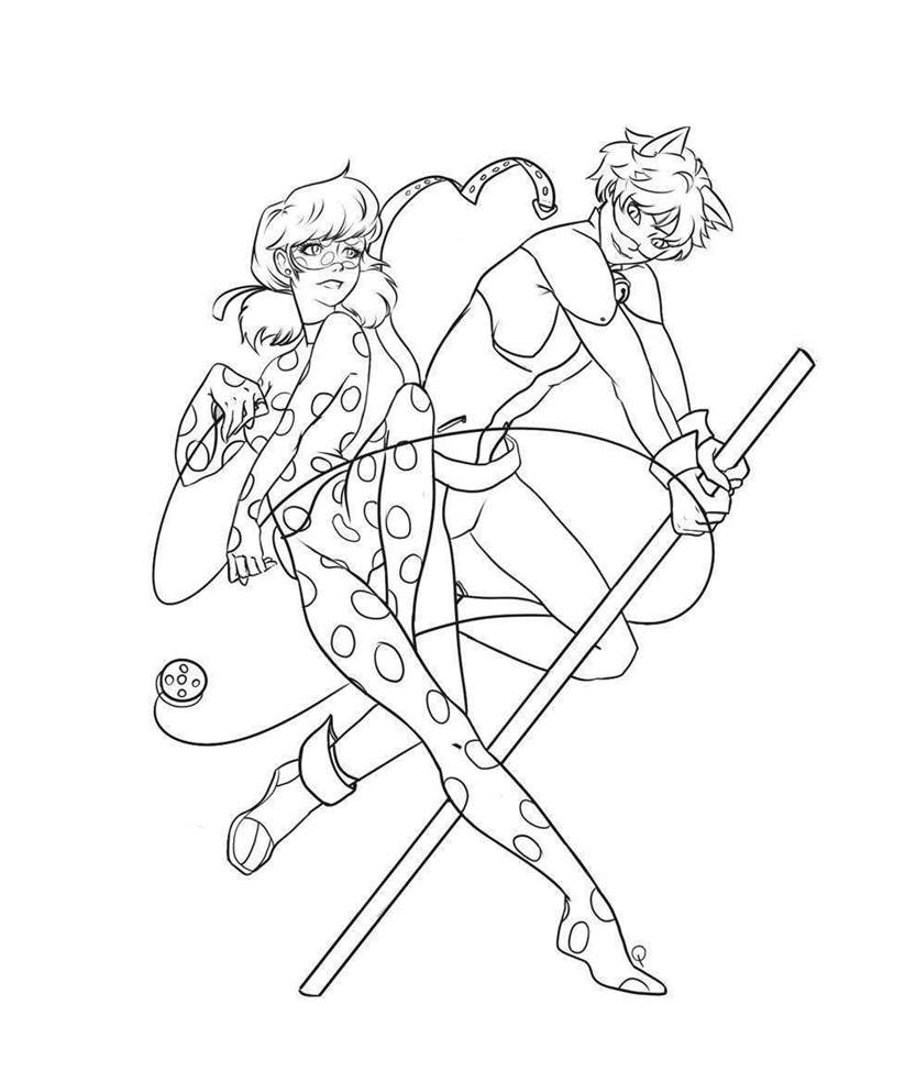Miraculous Ladybug Coloring Pages Line Drawing 753 - Free Printable ...