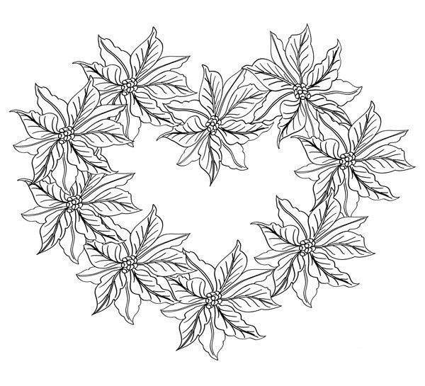 Poinsettia Coloring Pages Free Drawings 111 Free Printable