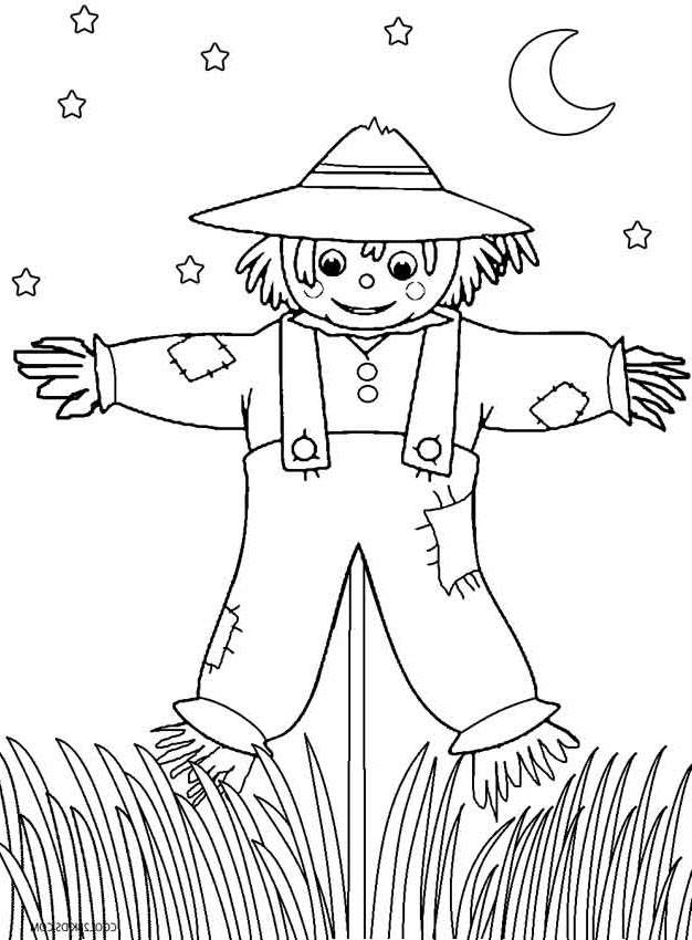 Scarecrow Coloring Pages Awesome Fan Art For Kids Cool2bkids 2056 ...
