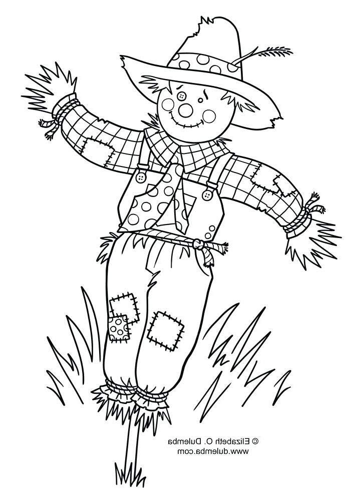 Scarecrow Coloring Pages Easy for Kids 1716 - Free Printable ...