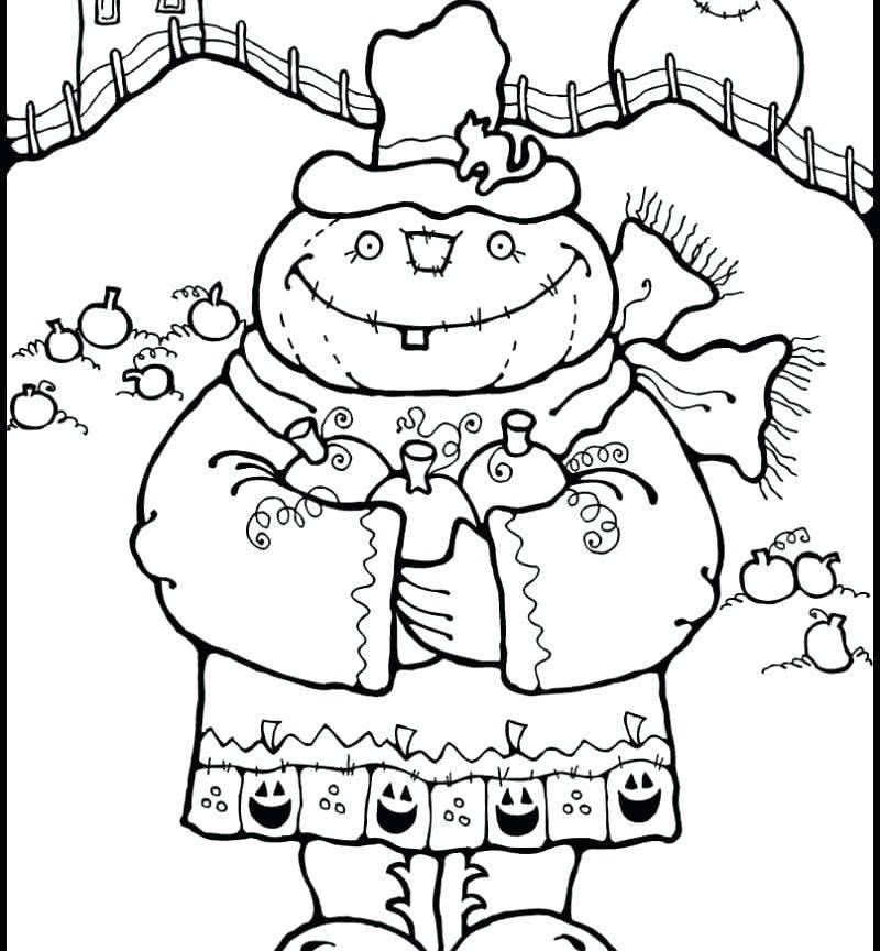Scarecrow Coloring Pages Fresh for Kids Page 1492 - Free Printable ...