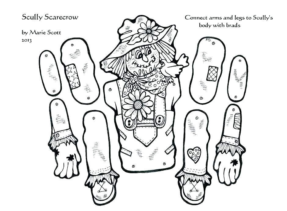 Free Scarecrow Coloring Pages New for Girls Color By Number 1703 printable