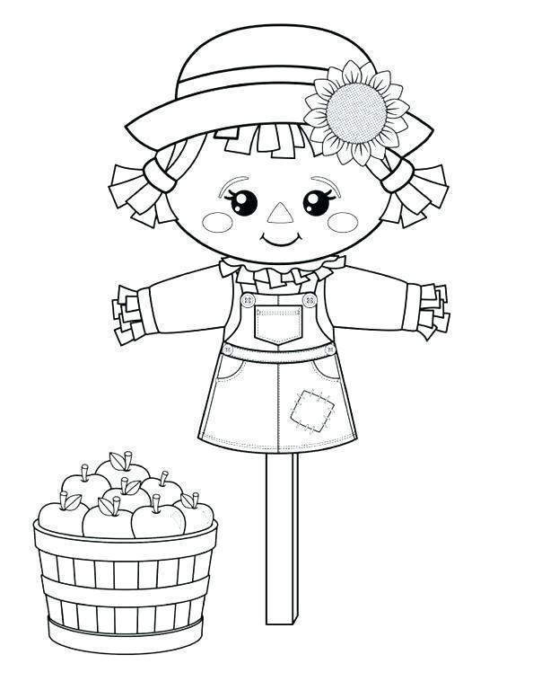 Scarecrow Coloring Pages Printable Drawing Pictures Sheet 2137