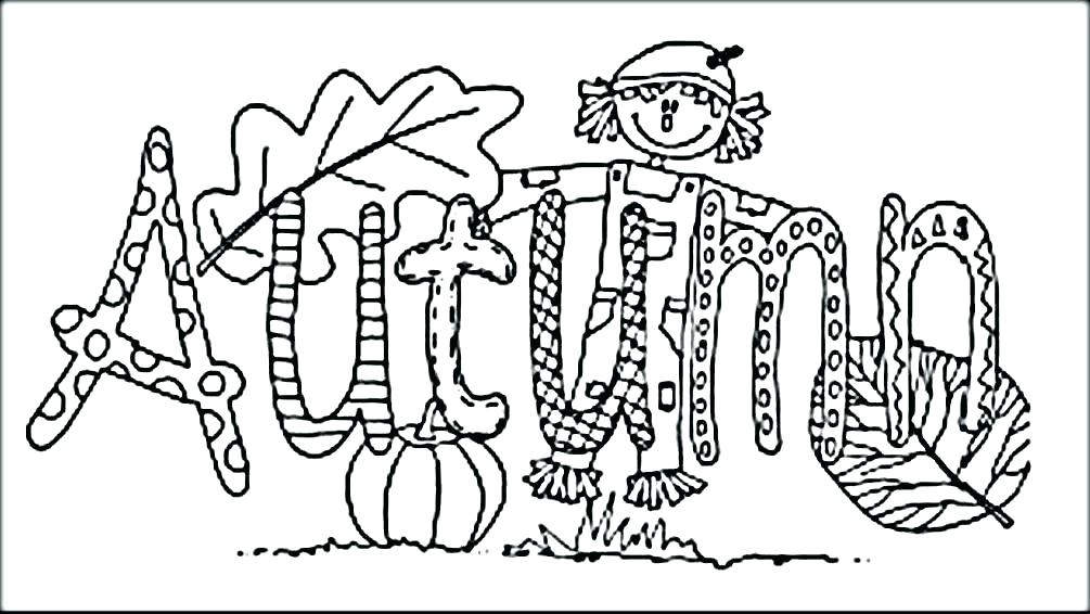 Scarecrow Coloring Pages Printable For Boys Autumn