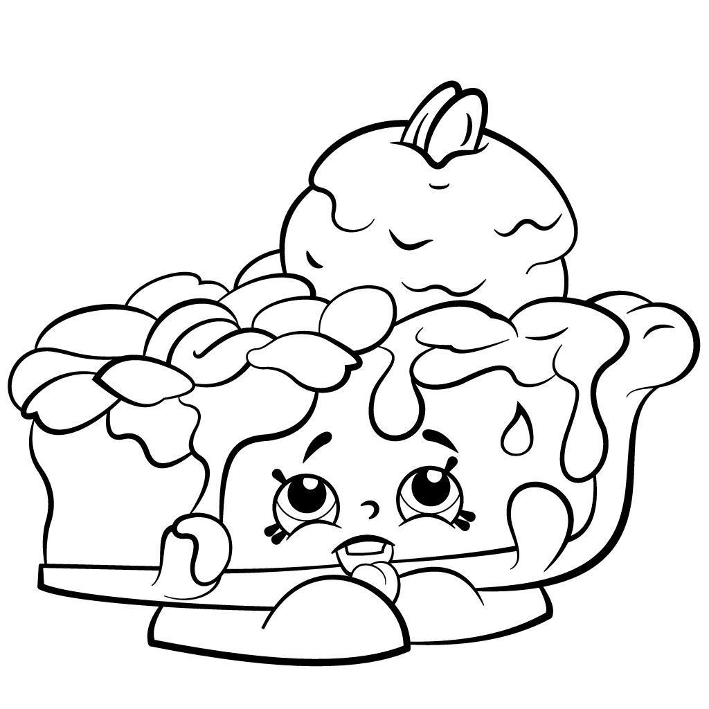 Free Shopkins Coloring Pages Best Hand Drawing Pecanna Pie Season 2 4639 printable