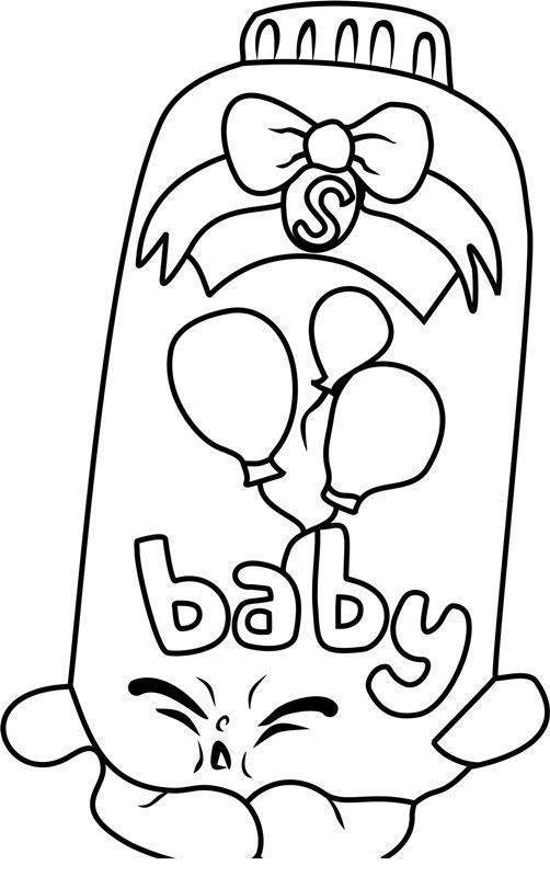 Free Shopkins Coloring Pages New for Girls Baby Puff 3347 printable