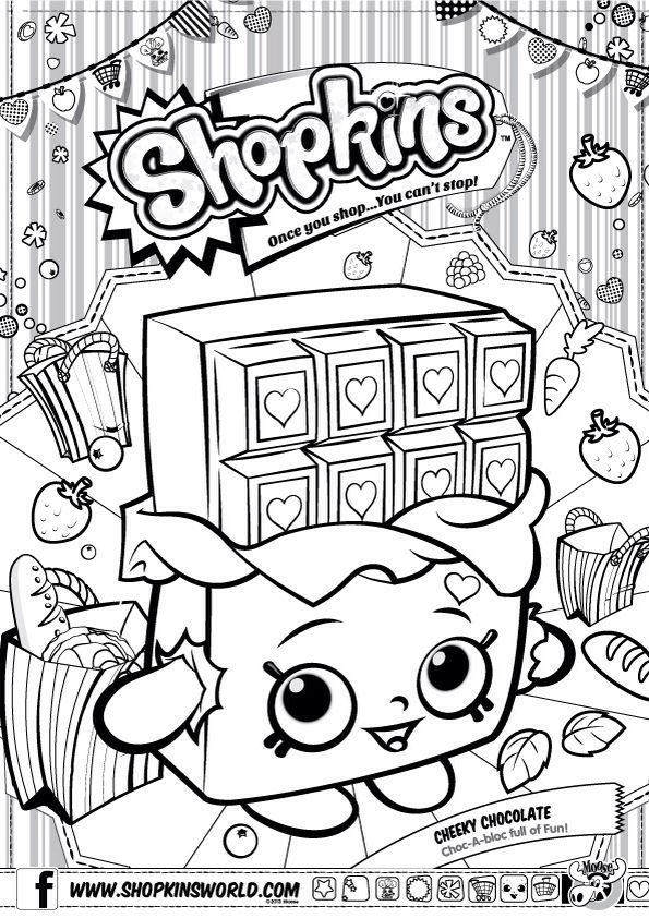 Free Shopkins Coloring Pages Simple Outline Season 4 74 printable