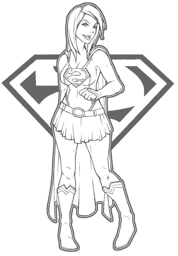 Supergirl Coloring Pages New Linear