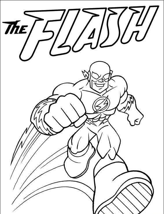 Free The Flash Coloring Pages Clipart 678 printable