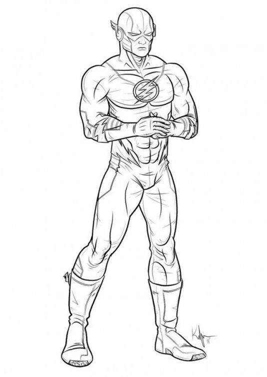 Free The Flash Coloring Pages New Coloring Book Superheroes 647 printable