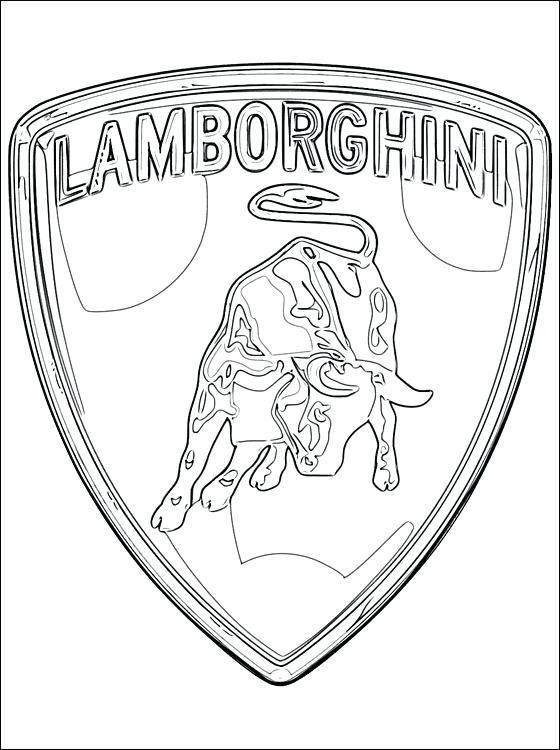 The Lamborghini Coloring Pages Aventador Logo 95 - Free ...