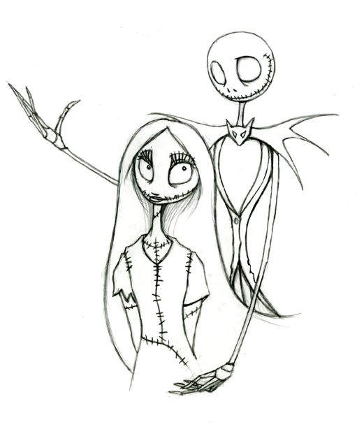 The Nightmare Before Christmas Coloring Pages Free Black And White 1864