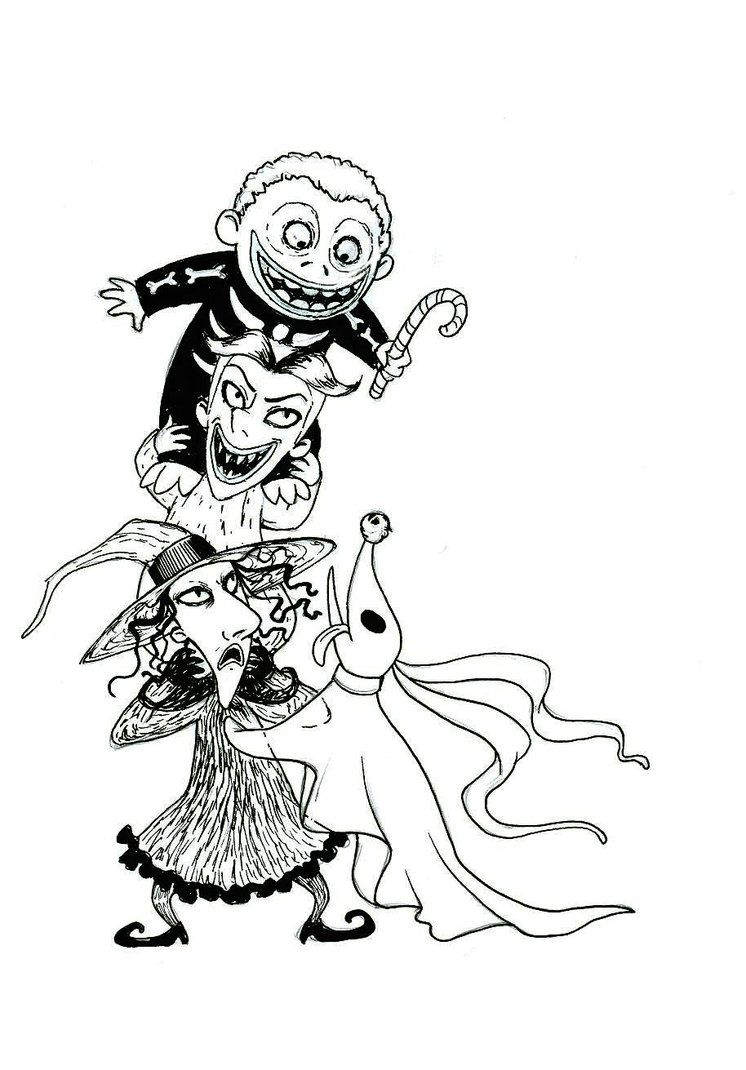 the nightmare before christmas coloring pages new worksheet tattoo 1643