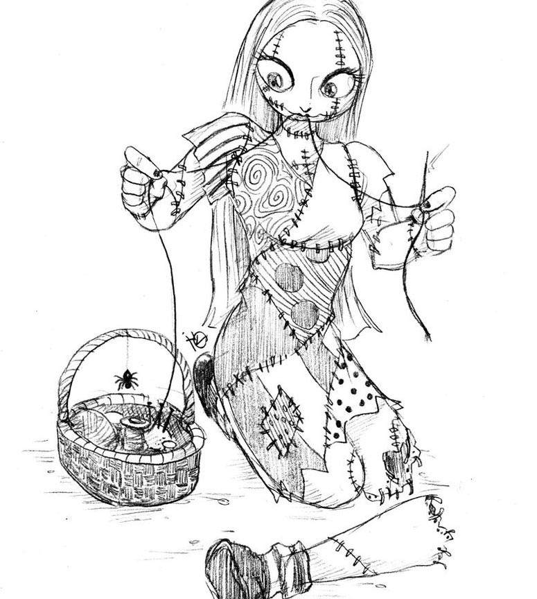 the nightmare before christmas coloring pages new for kids 983