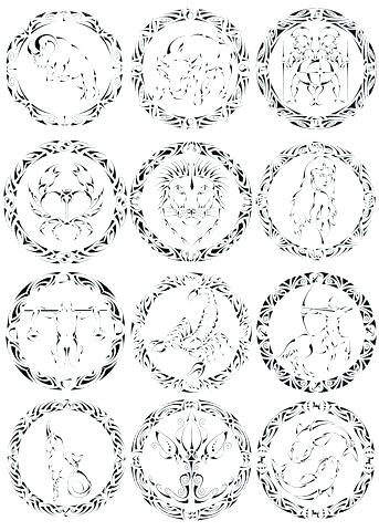 Zodiac Coloring Pages Easy Images Astrology 819 Free