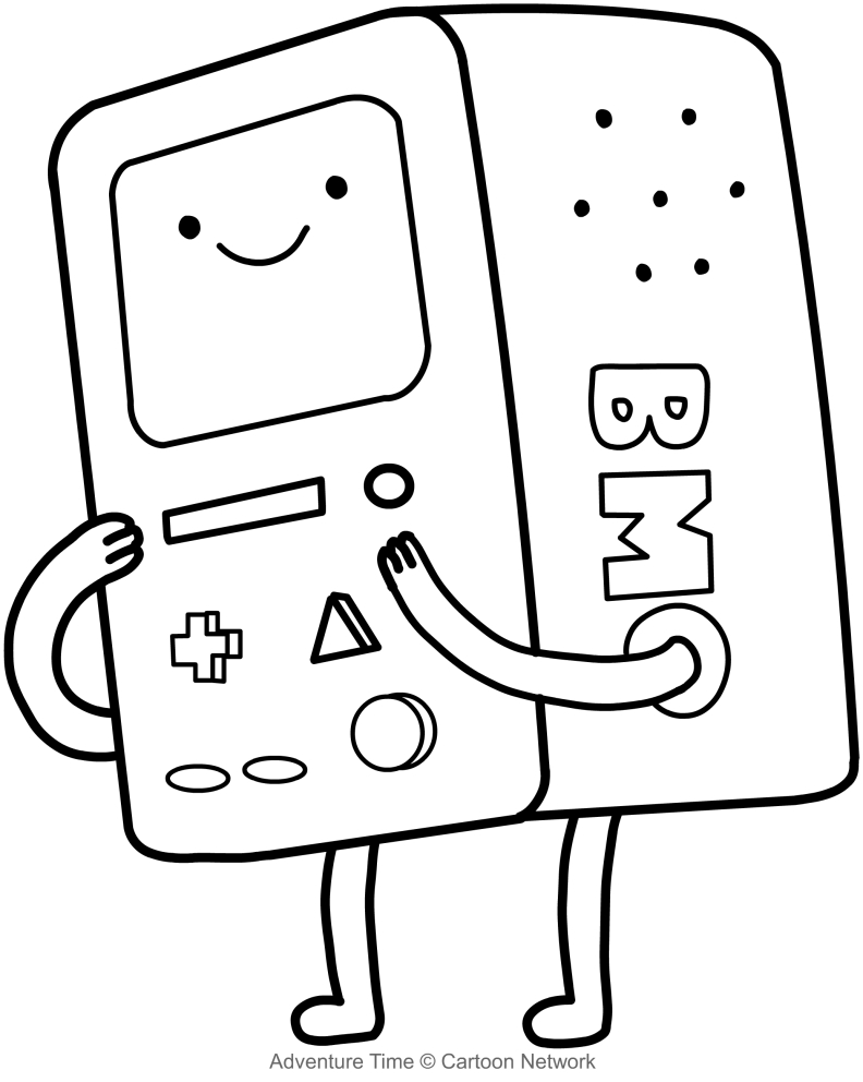 Free Adventure Time Coloring Pages Drawing Pictures Bmo Il Computer 162 printable