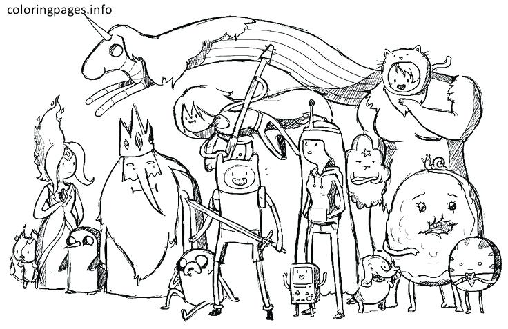 Adventure Time Coloring Pages New Hand Drawing Online Sheet 38