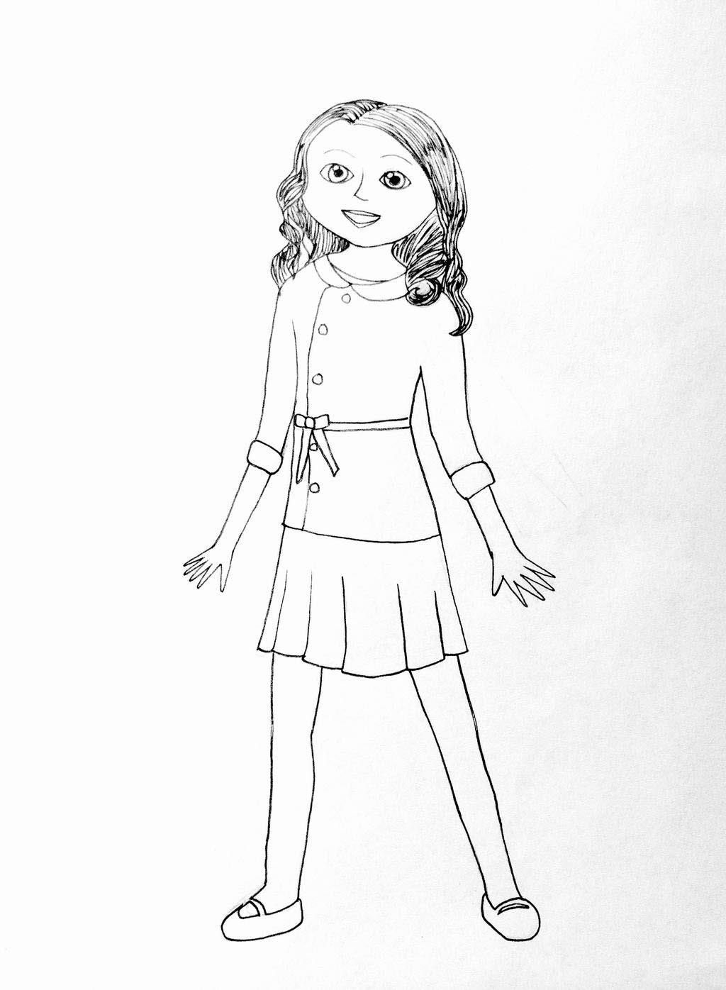 American Girl Coloring Pages Doll Saige Drawings - Free Printable ...