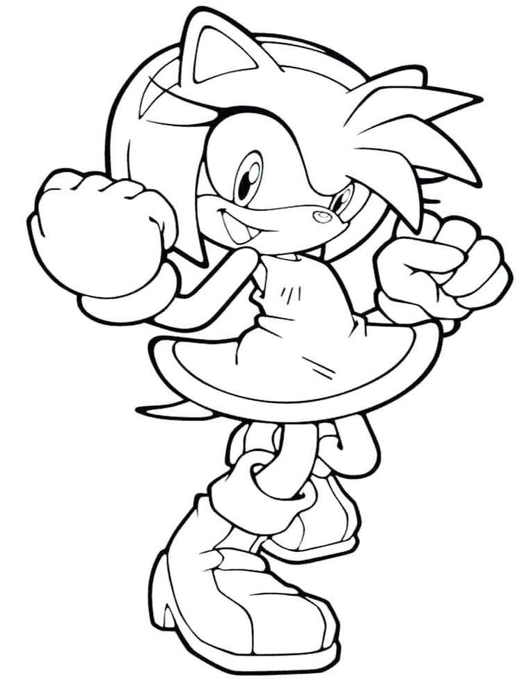 Free Amy Rose Coloring Pages Interesting Sonic Amy Sonic Sonic for Kids printable