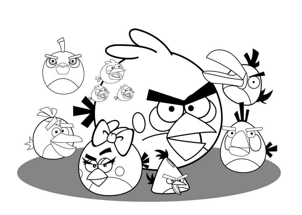 Angry Birds Coloring Pages Beautiful For Preschool Free Printable