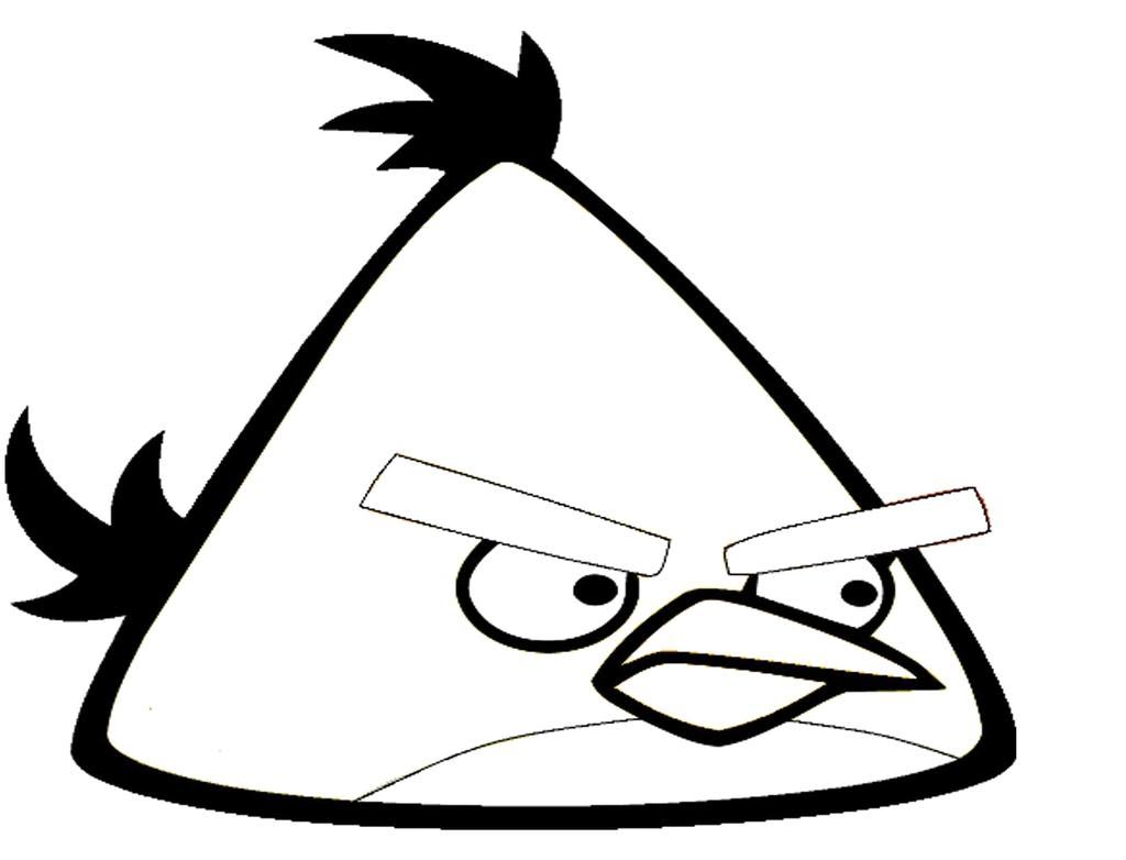 Angry Birds Coloring Pages Black