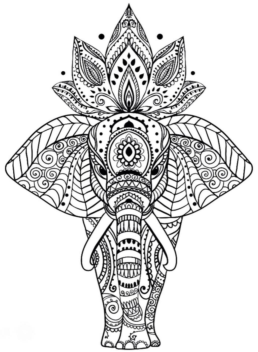 Free Animal Mandala Coloring Pages Sumptuous Design Linear printable