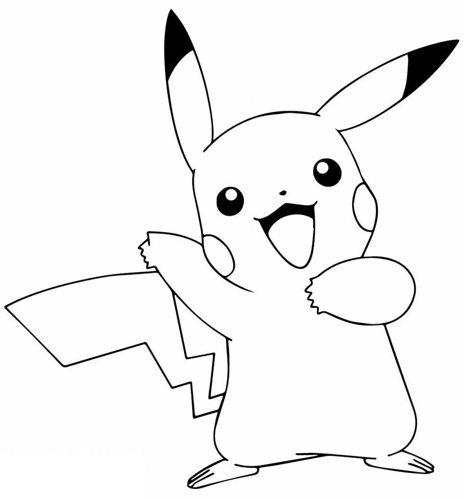 Awesome Pikachu Coloring Pages