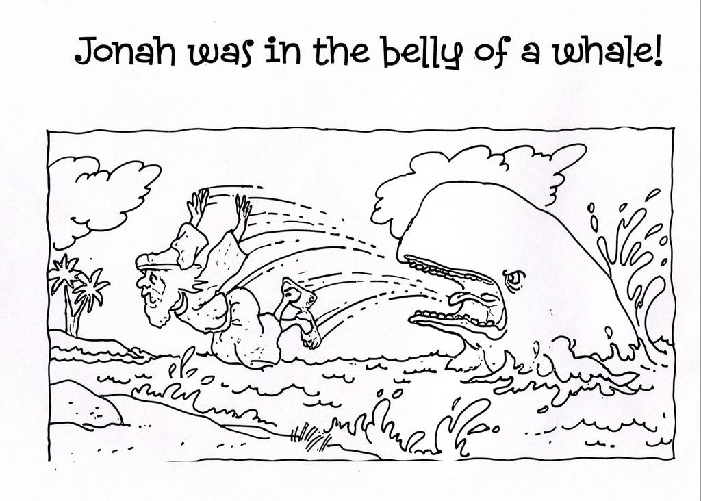 Bible Story Coloring Pages Better Jonah for Preschool - Free ...