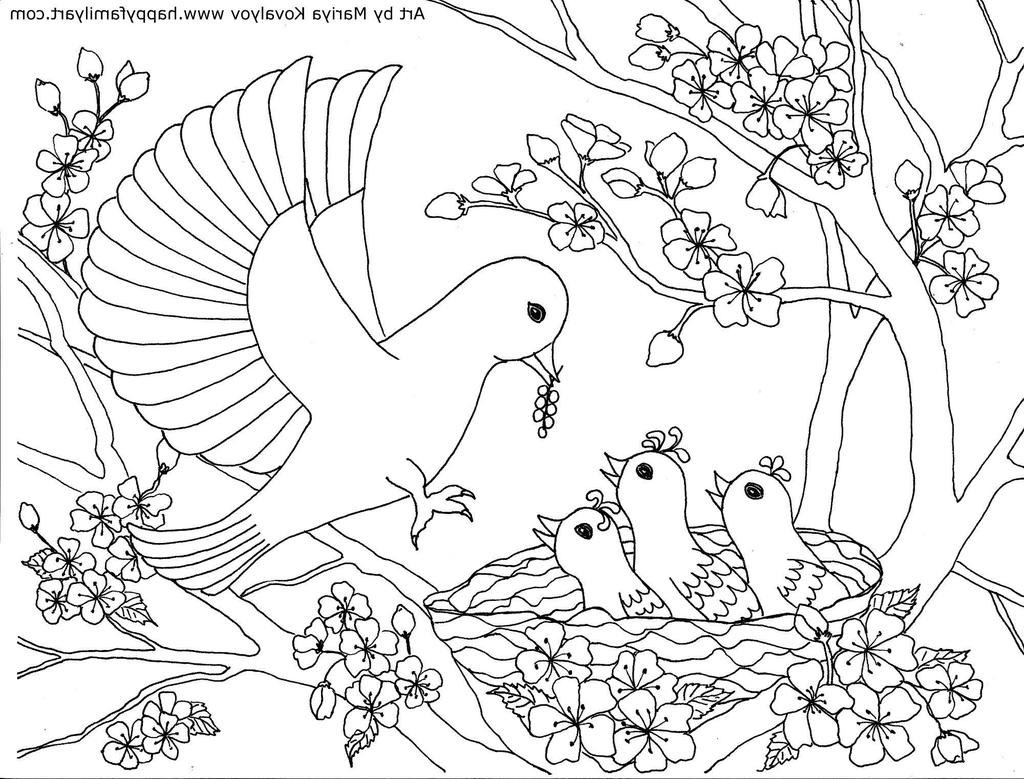 Birds Coloring Pages Love Lovely For Toddlers Free Printable