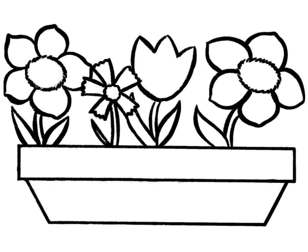 Butterfly And Flower Coloring Pages Flowers Butterflies For
