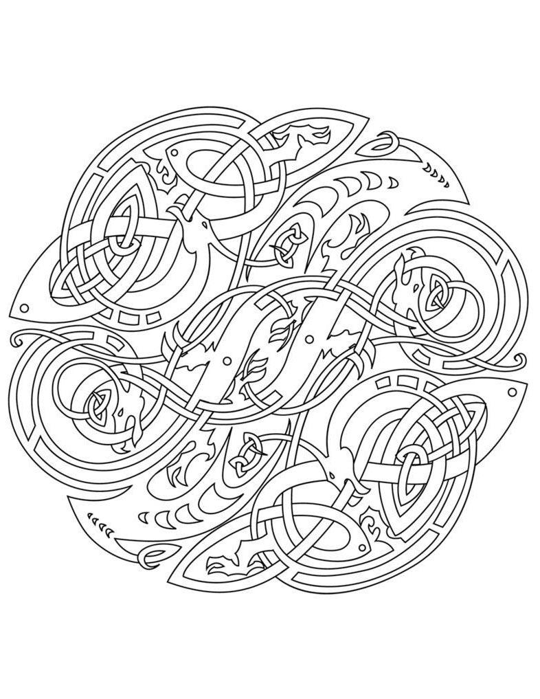 Celtic Mandala Coloring Pages Alphabet Elegant Pictures Free