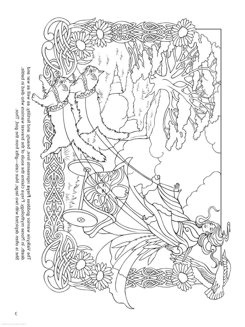 Celtic Mandala Coloring Pages Freya Norse For Toddlers Free