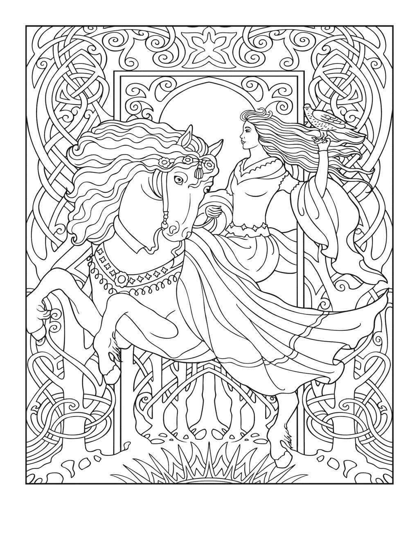 Celtic Mandala Coloring Pages Pin Mirian Online Free Printable