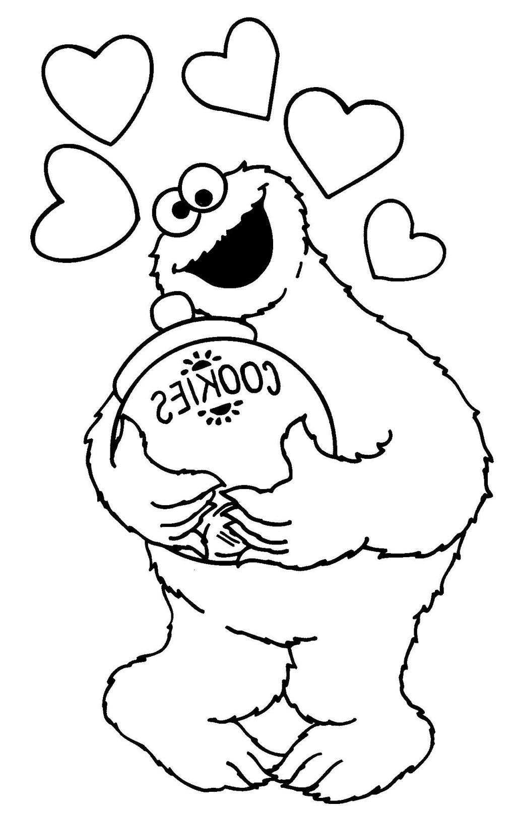 Cookie Monster Coloring Pages Jar Clipart - Free Printable ...