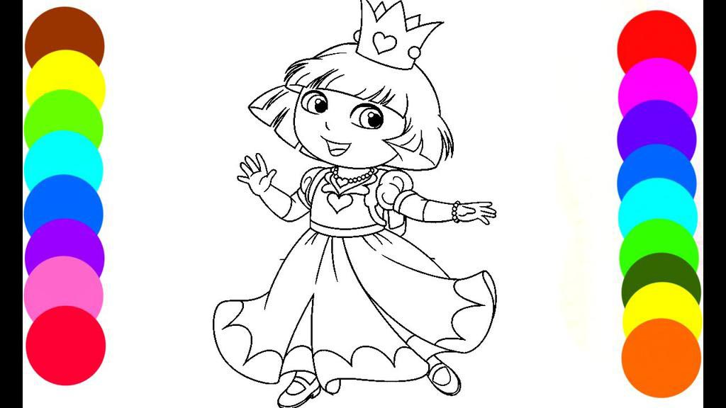Free Dora Princess Coloring Pages Beautiful Book Outline printable
