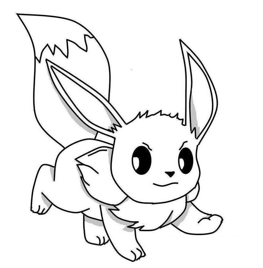 Easy pikachu coloring pages pokemon eevee evolutions for kids