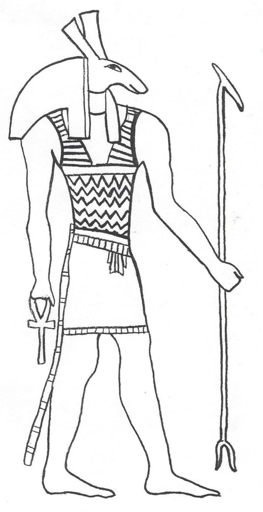 Egyptian Coloring Pages Ancient Egypt Pictures Free Printable