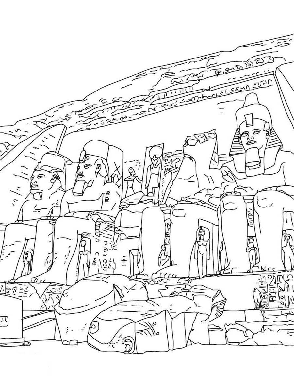 Egyptian Coloring Pages Egypt Free Printable Free Printable