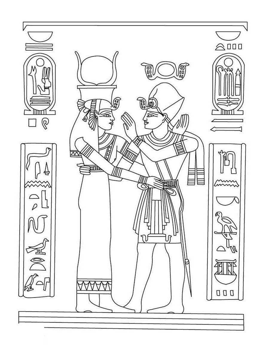 Egyptian Coloring Pages Http Hellokids Black And White Free