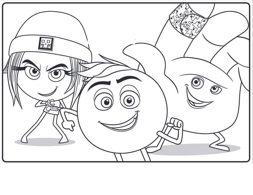 Free Emoji Movie Coloring Pages Free Drawings 1772 printable
