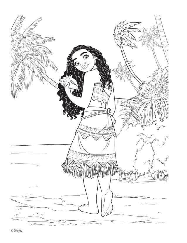 Free Fancy Moana Coloring Pages Cute printable