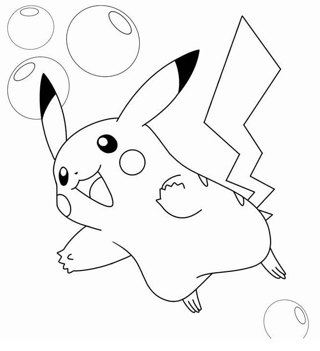 Free Pikachu Coloring Pages 420 Linear Free Printable Coloring Pages
